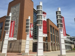 Reds Allstar Banners-Pole Lights