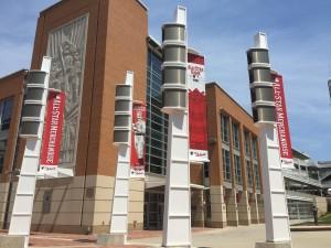 Reds Allstar Banners-Pole Lights