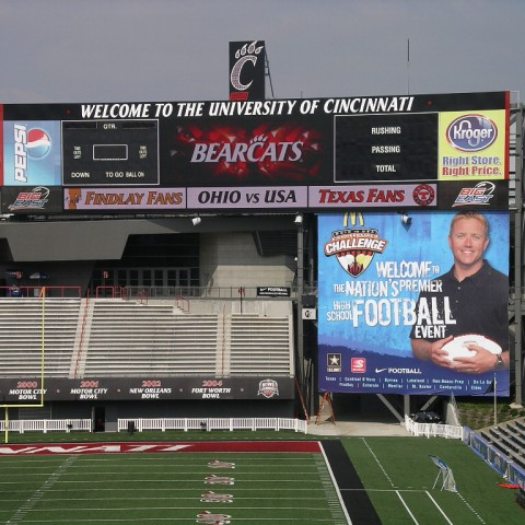 University of Cincinnati Scoreboard