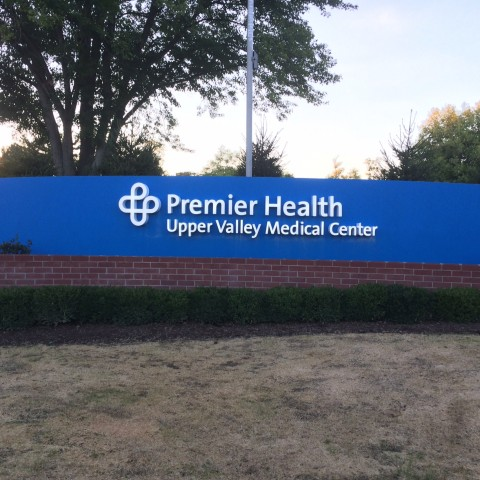 Premier Health Letters on Ground Sign