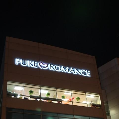 Pure Romance Channel Letters