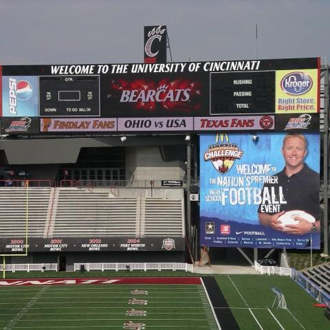University of Cincinnati Scoreboard