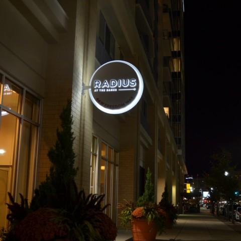 Radius - Illuminated Blade (night)